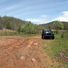 My jeep at the parking spot for the logging road  on the farside of  Pig Pen Flats. <br /> This is also a muddy quagmire thanks to billybobs and their 4 wheelin and mud bogging. <br /> I like to play in the mud and go 4-wheelin as much as anyone, but there's a time and place.. and this ain't hit!
