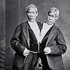 Chang and Eng Bunker.. the original Siamese Twins.  <br /> They shared a fused liver, but I don't think T. weirdium has a liver. hee hee!