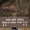 Trail marker at the start of Ace Gap Trail back in Dry Valley.  This signals the re-do of my premature Beard Cane Creek Trail backpack trip. Ace Gap Trail still didn't have much blooming along it yet, but most of the blow downs had been cleared and the trail well maintained.  I was fortunate enough to have the company of one of my best buddies.. Dan Heimsoth. He is quite an accomplished photographer and all around good guy.