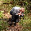 Dan taking photos of some flower along Beard Cane Creek Trail
