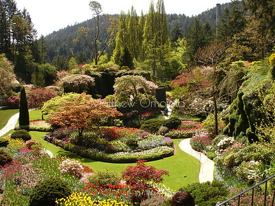 Butchart gardens Victoria BC Canada.