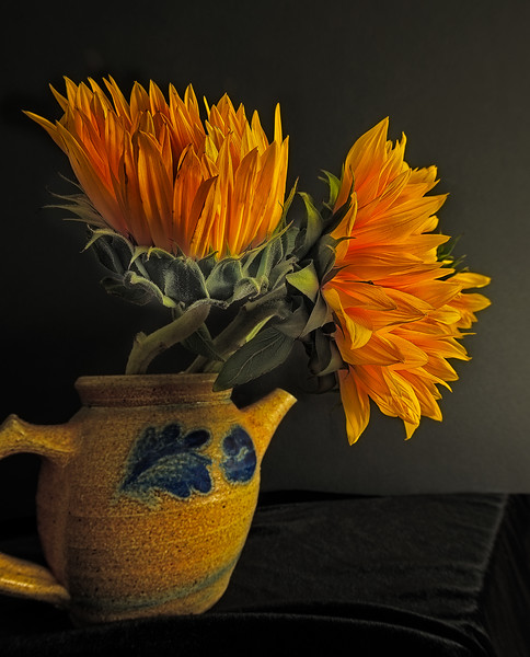 Sunflowers in a Teapot