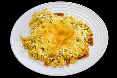 Cheesy crunchy noodles