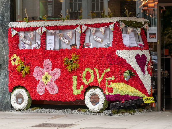 Flowered bus