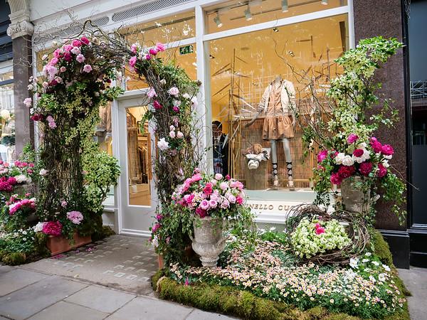 Flowered storefront