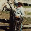 """""""Granddad"""" starting to catch horses.  This is Pammy's horse, Bambi, a nice little appy."""