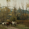 """""""Grand-dad"""" bringing in the horses in the morning. (Floyd)"""
