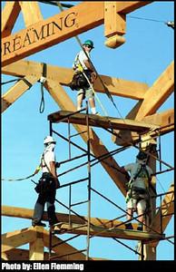 2004 FloydFest Dreaming Creek Stage Build