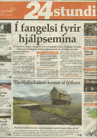 Blaðagreinar um uppgerð efsta skála.