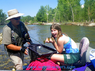 Irv taught Rachel to fish, now she brings her friends. This is Chloe. She is having a great time.