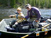 Susan and Jack on the Big Hole river in early June. Other rivers were too high to fish, the Big Hole was just right.