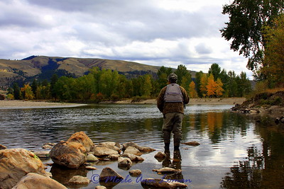 Jack fishing the middle Bitterroot in the fall.