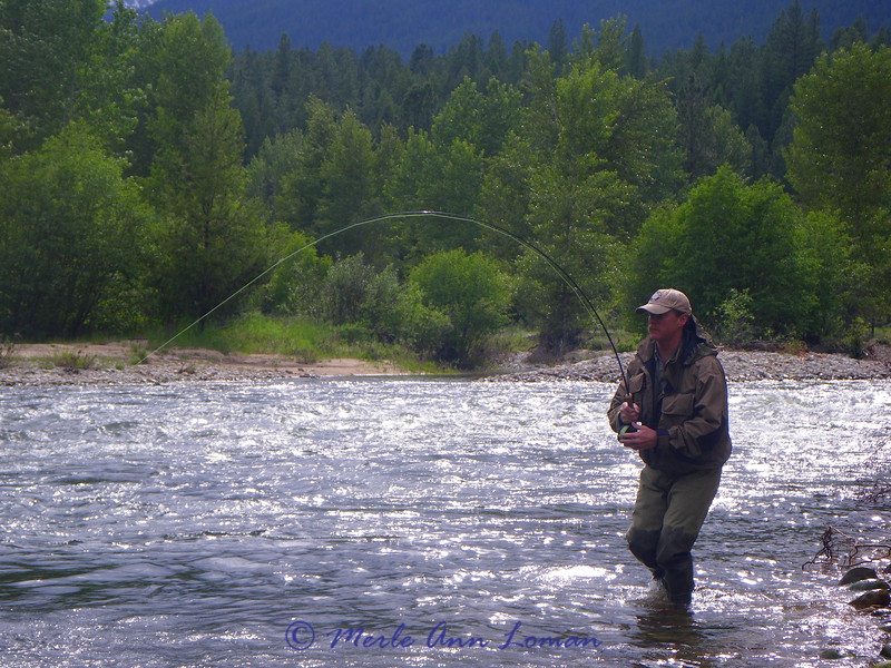 Billy wade fishing on the upper Bitterroot