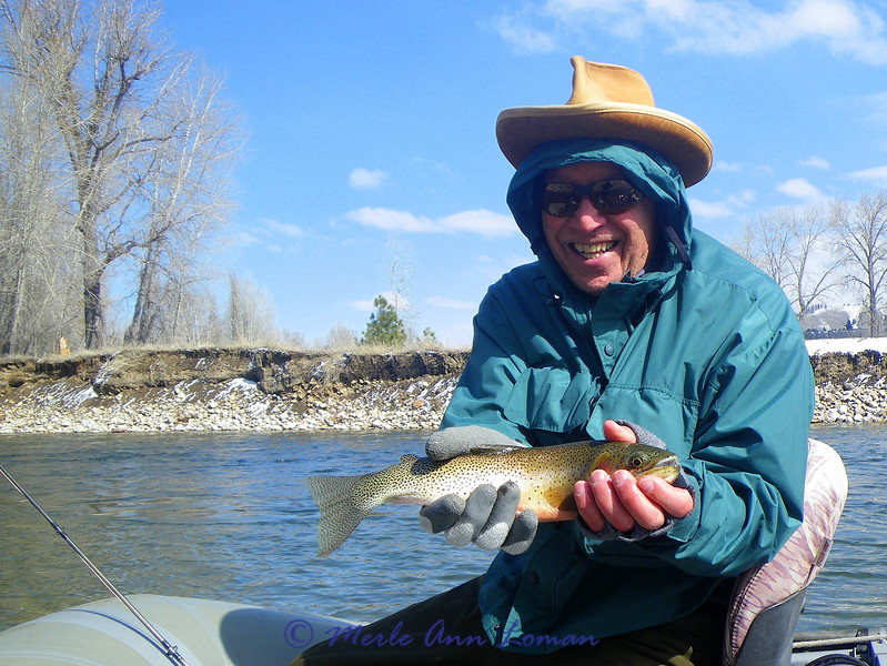 March 26 - This fish came up to a dry fly on the coldest day Jack has ever fished. Pete Zouvas caught it.