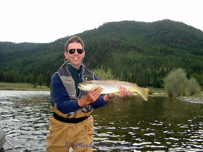May 24 - Clark Fork, Jim Ogle between water pulses of Spring and June run-off
