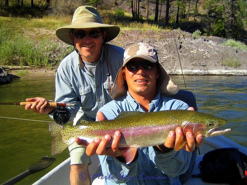 Aug 24 - Clark Fork, Nice Clark Fork rainbow trout!!!!