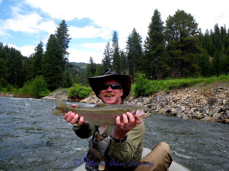 June  15 - Big Hole, Billy with a fat rainbow