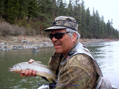 April 9 - Clark Fork, Jack fishing with Harry Wilson