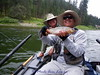 Aug 5 - Blackfoot River, Alan with a large cutthroat trout. Jack Mauer is holding it.