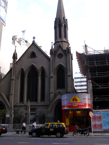 Church and new construction in Buenos Aires