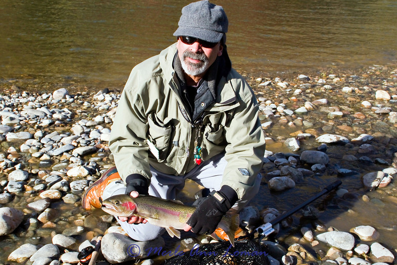 24 inch steelhead caught by Roy Loman