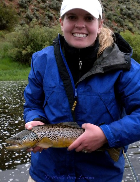 Becky with the Brown Trout - nice! June