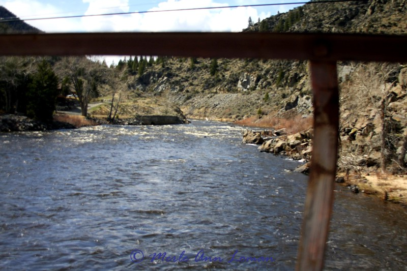 On the bridge at Divide, MT looking west up the Big Hole River. May