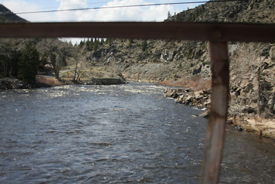 On the bridge at Divide, MT looking west up the Big Hole River.