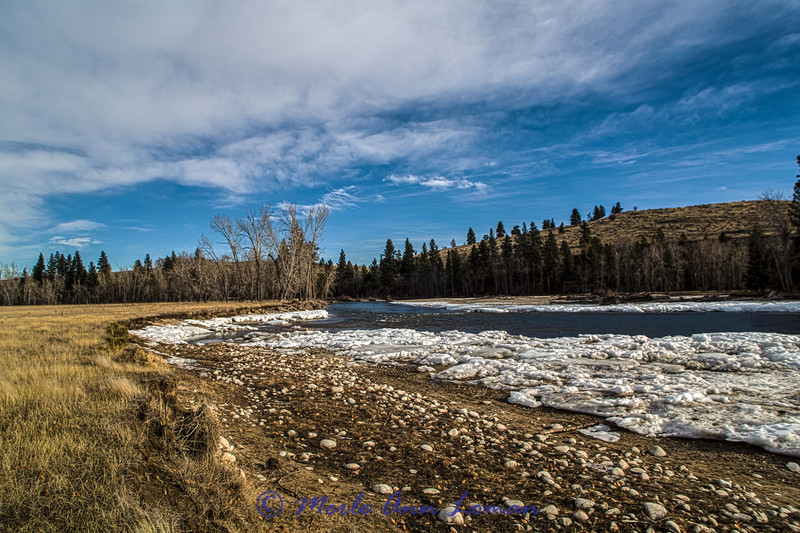 Bitterroot River south of Hamilton, Montana - 1-25-2015 IMG_5392