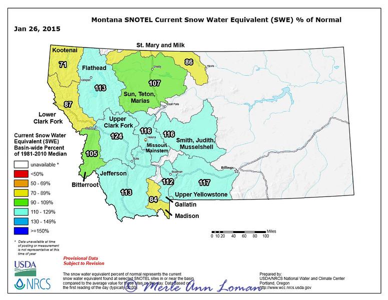 Montana Snotel data 01.26.2015