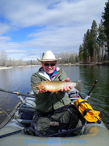 March 17 - Bitterroot, Dusty Bernard with a male native cutthroat trout