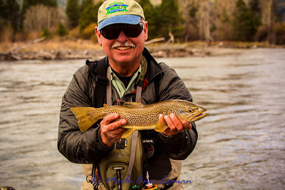 Greg Chester and his brown trout