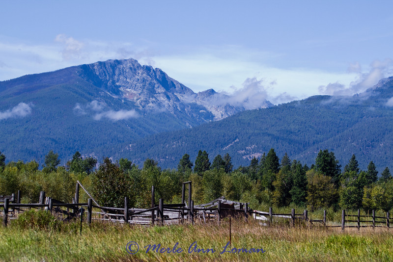 Bitterroot Mountains to the west of the Bitterroot River. This photo was taken from the river north of Bass Creek.