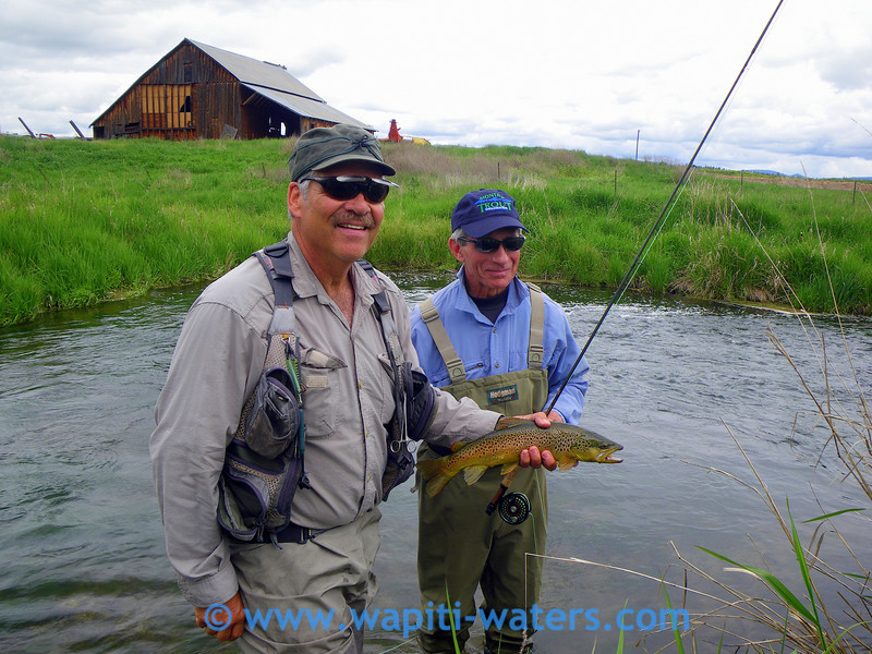 Jack Mauer and Tony Fauci - Tony caught this beautiful brown trout and released it.