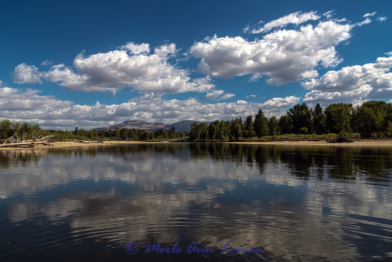 """Middle Bitterroot River in August - IMG_5516-2 - ¯\_(ツ)_/¯ Please share and like the A Montana View Facebook page! Thanks so much for viewing. 