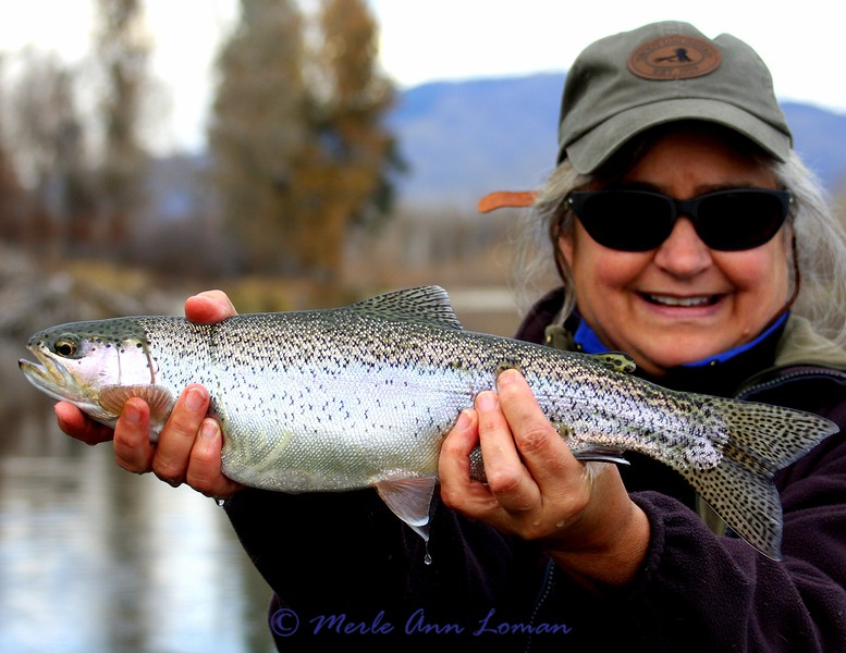 Merle and one of the trout she caught
