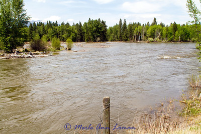 May 16, 2012 - looking downriver (north) from Victor Bridge. 4520 CFS at Darby gauge and 7220 CFS at Bell Crossing gauge.