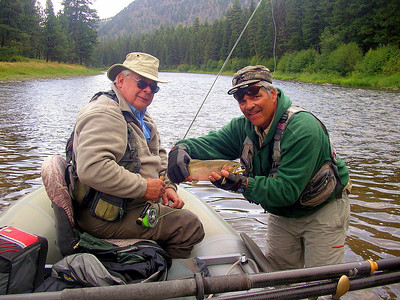 Sept 4 - Blackfoot, Jack Mauer is holding the trout that Boyce Tollison caught