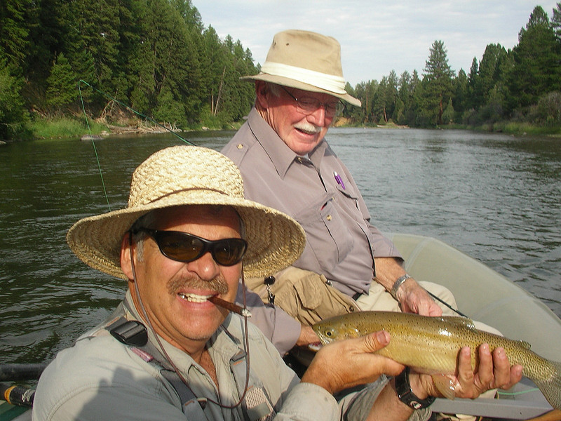 Aug 8 Jack Mauer is holding  Jack Saunders' (in the back) cutthroat trout.