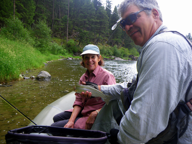 Carol trout on the Blackfoot River