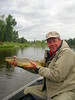 Dan Pace with a brown trout