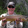 Jeff with a brown trout