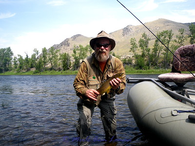Doug Nation on the Big Hole River in August