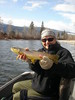 Merle with a Bitterroot brown trout