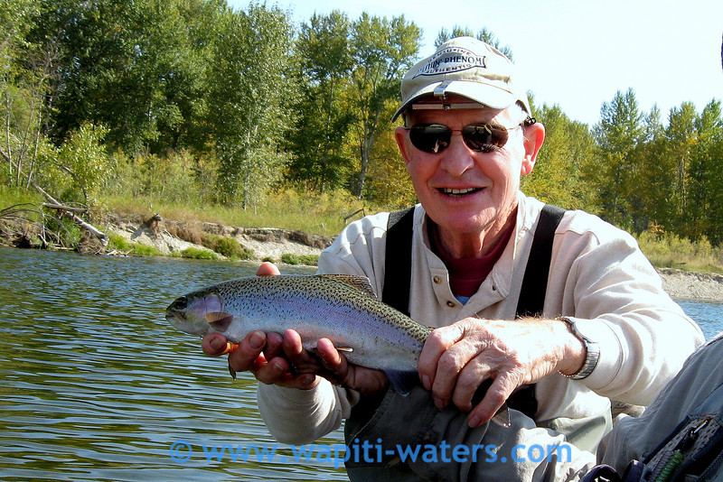 Sept 26 - Bitterroot, Jim Shields with a fat rainbow trout