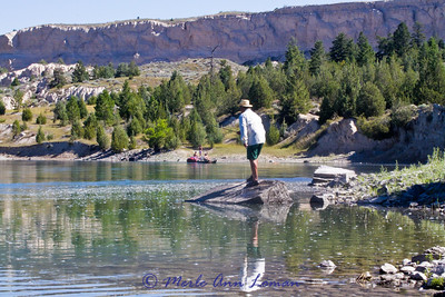 Fly fishing for bass from the bank