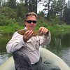Tom Hall with a cutthroat trout on the Blackfoot River