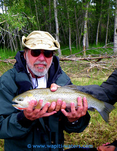 Her father, David, caught this beautiful cutthroat