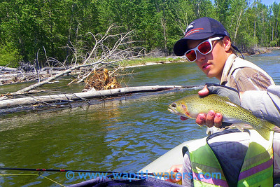 Kris and his cutthroat trout