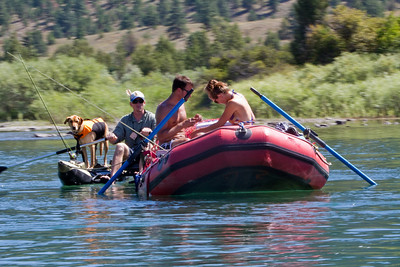 Boone, Mike, Brandon and Jessa. Sadie is in the boat with me and Jack.